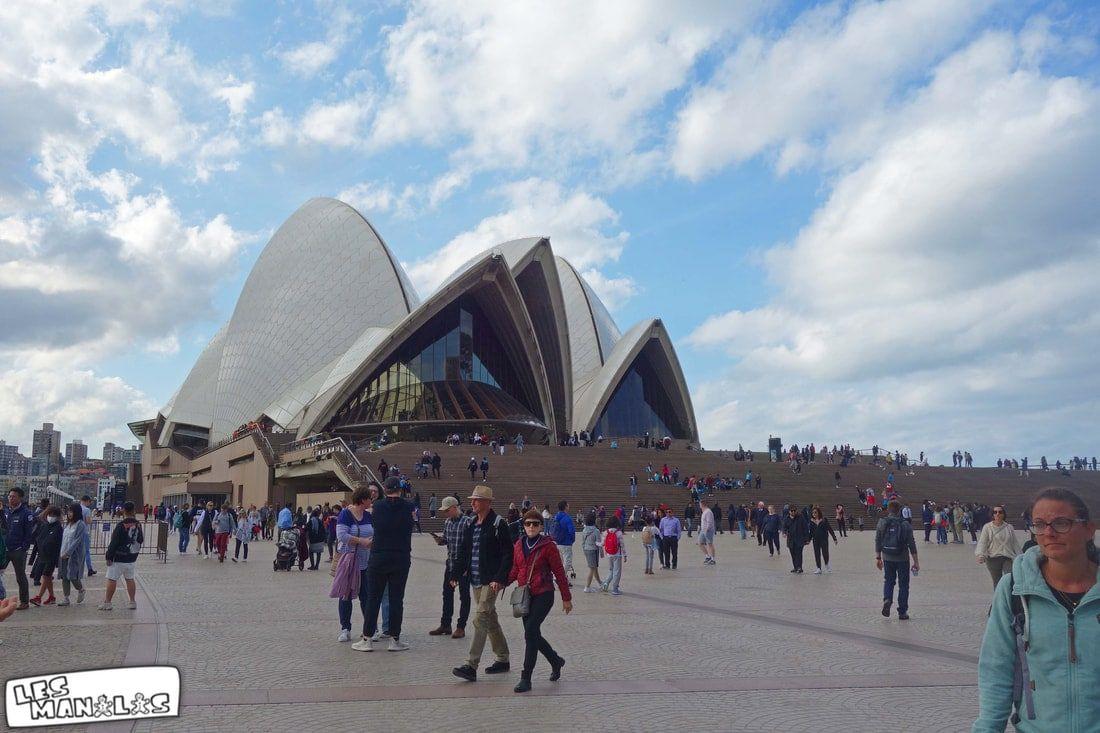Beaucoup de monde à l'Opéra de Sydney