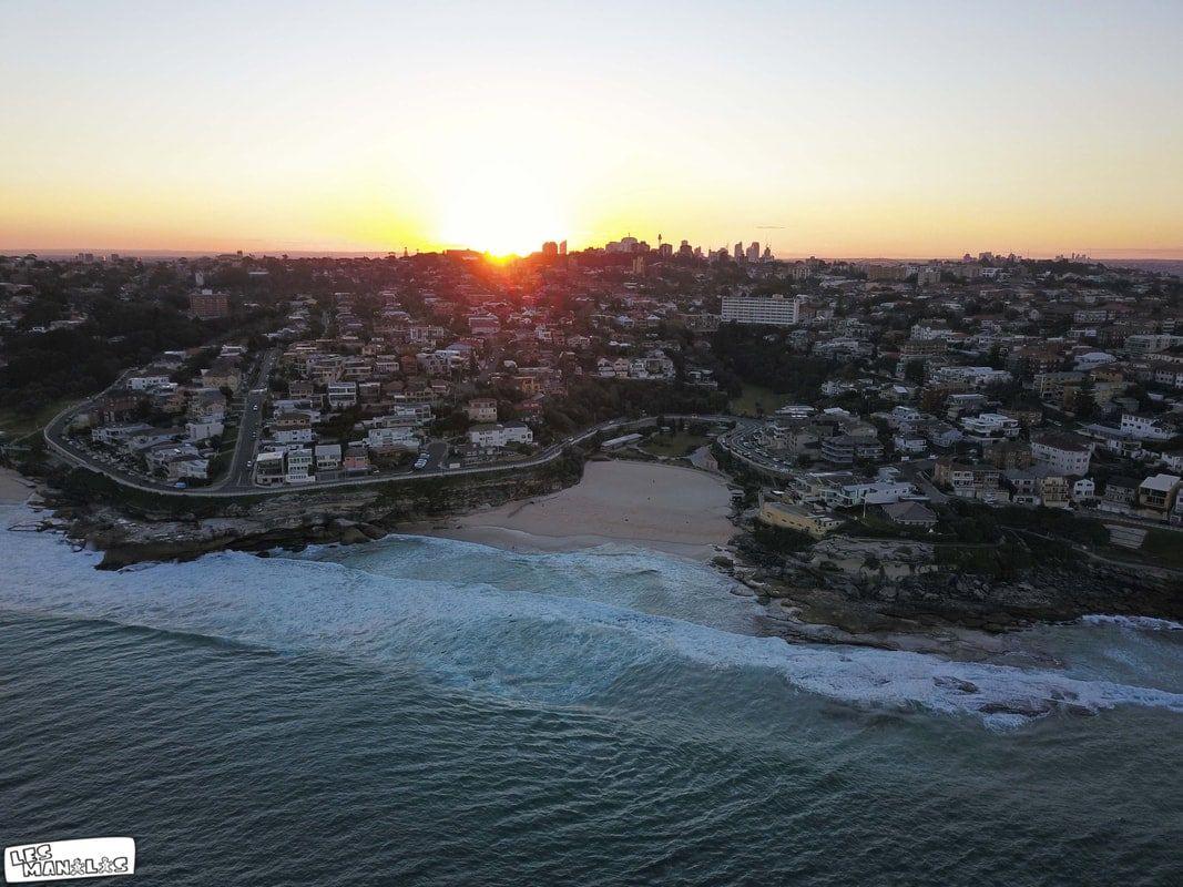 Coucher de soleil sur Bondi Beach