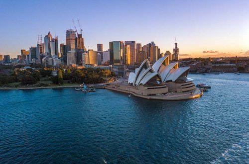Opéra de Sydney vu en drone