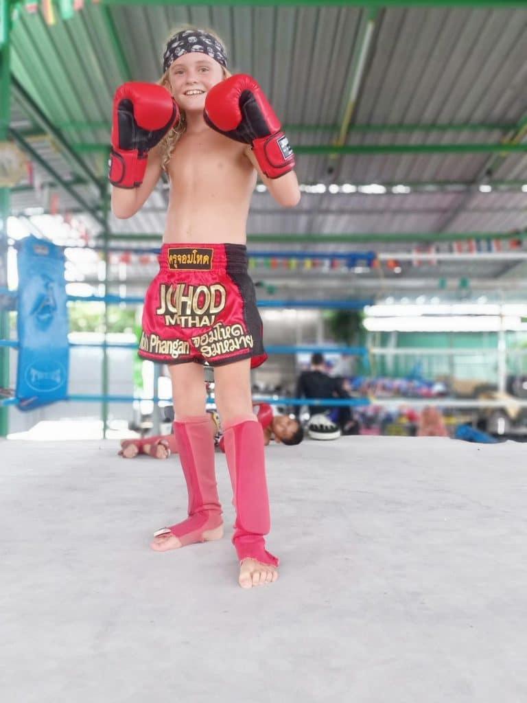 Cours de boxe thaï pour Jules