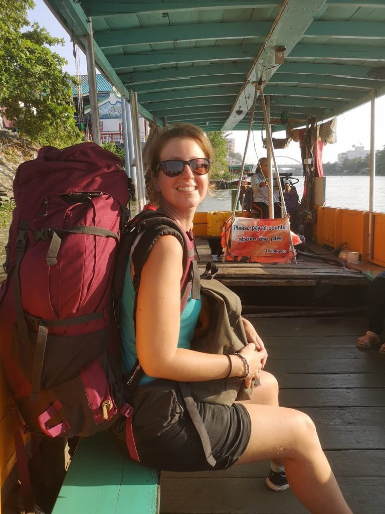 Laura à Ayutthaya