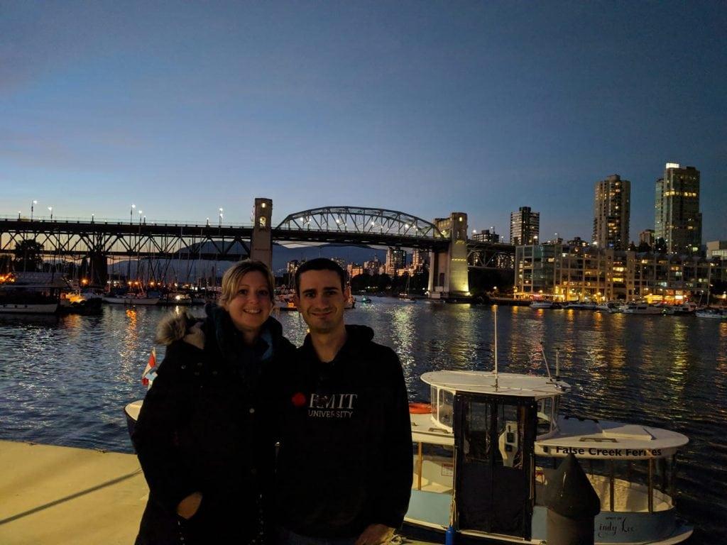 Laura et Mathieu à Vancouver, British Columbia, Canada