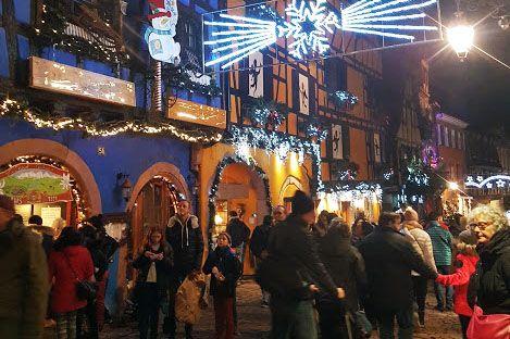 Illuminations de Noël à Riquewihr
